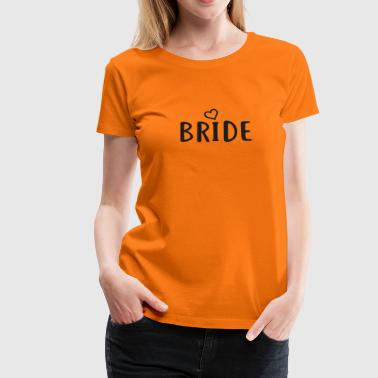 BRIDE Print sort 01 - Dame premium T-shirt