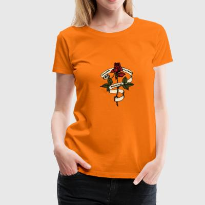 Guns love Roses - Frauen Premium T-Shirt