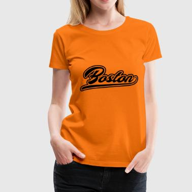 Contour de T-shirt Boston City - T-shirt Premium Femme