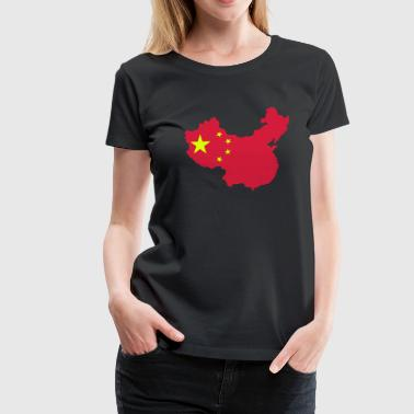 Map of China - Women's Premium T-Shirt