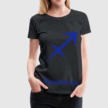 Sagittarius glyph Signs of the Zodiac symbol - Women's Premium T-Shirt