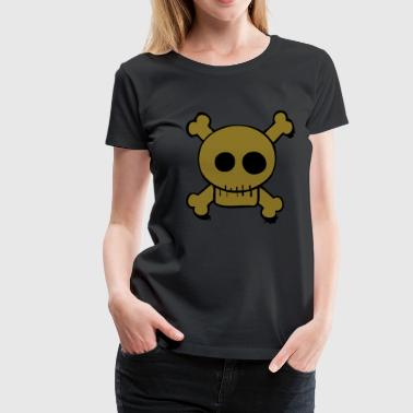 Skull and bones cartoon - Vrouwen Premium T-shirt