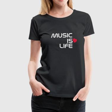 music is life heart ES - Camiseta premium mujer