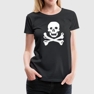 Piraten Totenkopf - Frauen Premium T-Shirt