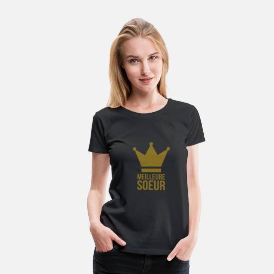 Famille du S au XL T-shirt Femme Soeur d/'enfer Humour