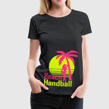 Handball Beach Sunset Frau - Frauen Premium T-Shirt