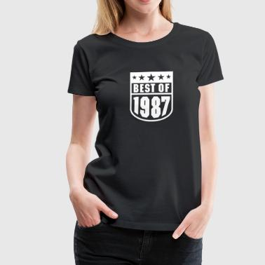 Best of 1987 - Frauen Premium T-Shirt