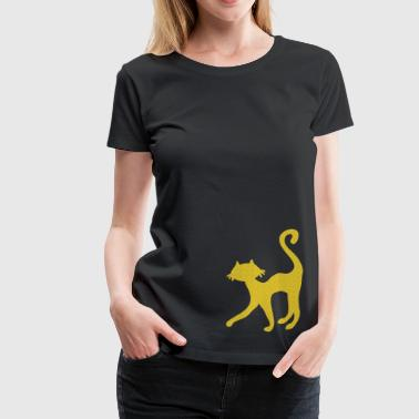 retro black cat sweet silhouette - Vrouwen Premium T-shirt