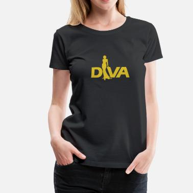 Diva Figure - Women's Premium T-Shirt