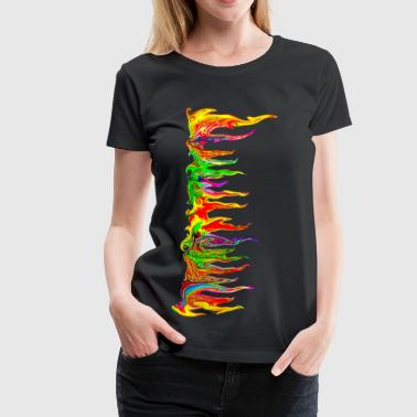 Color your life! colour, music, holi festival, goa - Women's Premium T-Shirt
