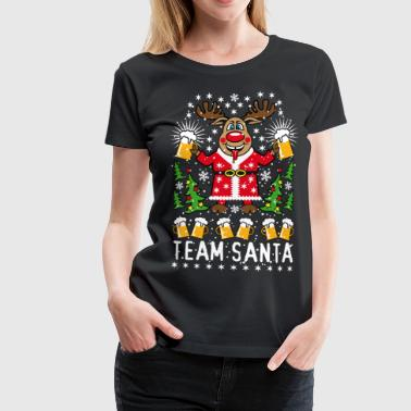 90 Hirsch Rudolph Bier Team Santa on Tour Beer  - Frauen Premium T-Shirt