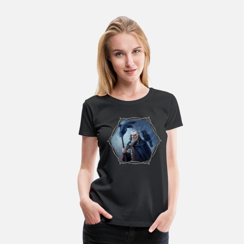 Collections Backup T-Shirts - Odin - Frauen Premium T-Shirt Schwarz