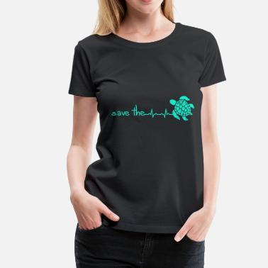 Save Turtles Heartbeat Save The Turtles - Women's Premium T-Shirt