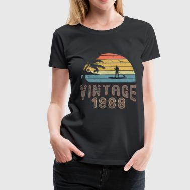 Vintage 1988 Stand Up Paddling SUP Surfboard - T-shirt Premium Femme