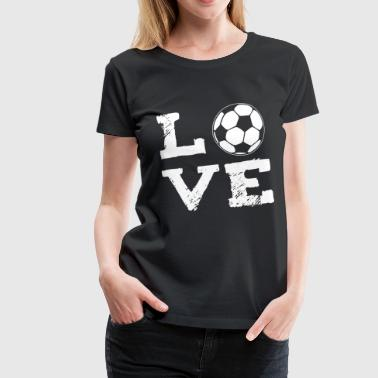 LOVE - football - Women's Premium T-Shirt