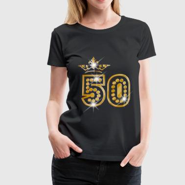 1967 50 - Birthday - Queen - Gold - Burlesque - Camiseta premium mujer
