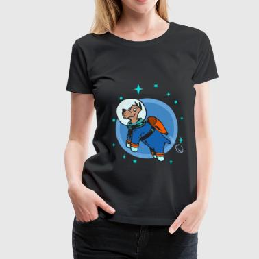 Astronaut Dog Space Flying Wau Wau - Maglietta Premium da donna