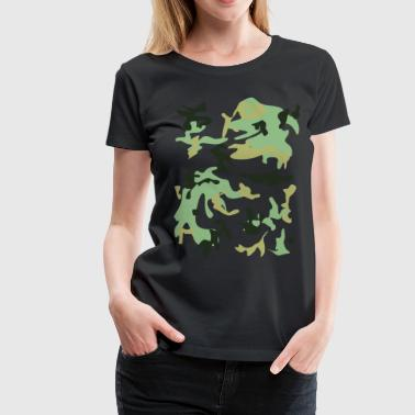 Camouflage Camouflage  - Dame premium T-shirt