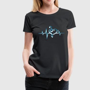 Music Notes Music, pulse, notes, Trance, Techno, Electro, Goa - Vrouwen Premium T-shirt
