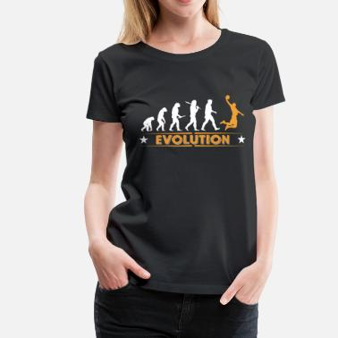 Basketball Is My Life Basketball Evolution - orange/weiss - Women's Premium T-Shirt