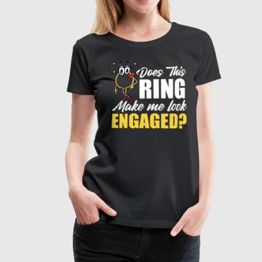 Ring engagement ring engagement wedding bride - Women's Premium T-Shirt