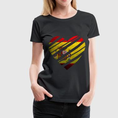 Spain Heart - Women's Premium T-Shirt