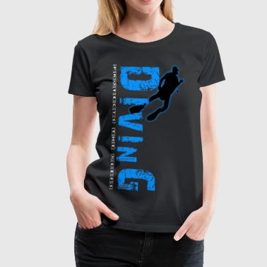 Diving - protects the reefs - Frauen Premium T-Shirt