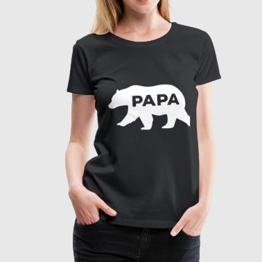 Bear Silhouette Illustration - T-shirt Premium Femme
