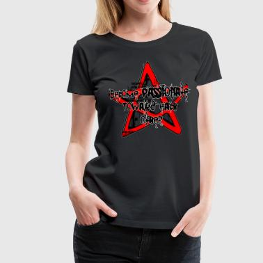 pentagram magic spell metal goth five star - Women's Premium T-Shirt