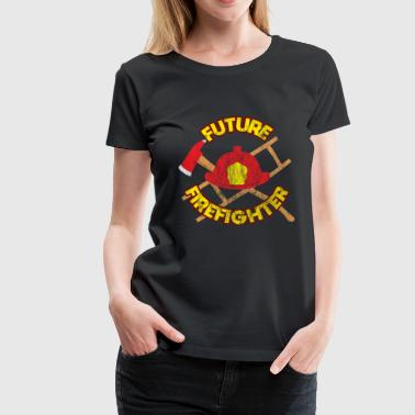 Paramedic Future firefighter job work gift - Women's Premium T-Shirt