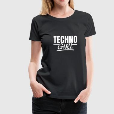 Techno Girl Techno Raves Raver Tjej Afterhour - Premium-T-shirt dam