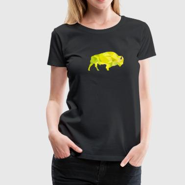 Raging Buffaloes Geometric Yellow I Love Buffalo - Women's Premium T-Shirt