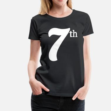 Store Stjerner 7. Seventh Large Text Fun Winning Ironic Award Fancy - Dame premium T-shirt