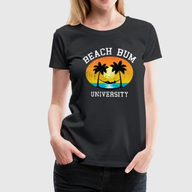 Beach Bum University | Palm - Sunset - Hammock - Camiseta premium mujer