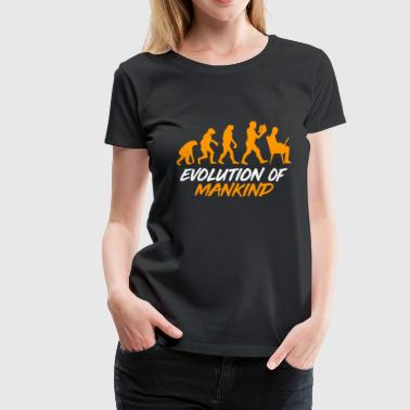 Mankind Evolution Mankind - Women's Premium T-Shirt