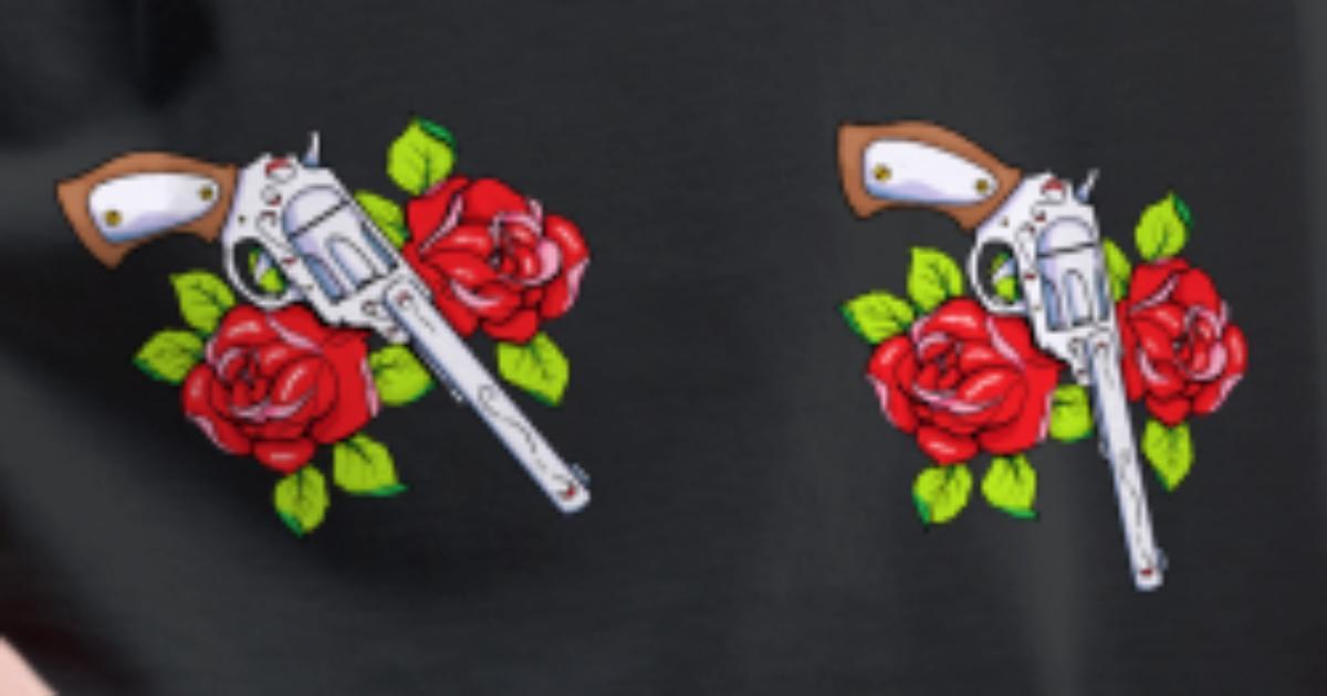 208b03092a1 Gun and rose Women s Premium T-Shirt