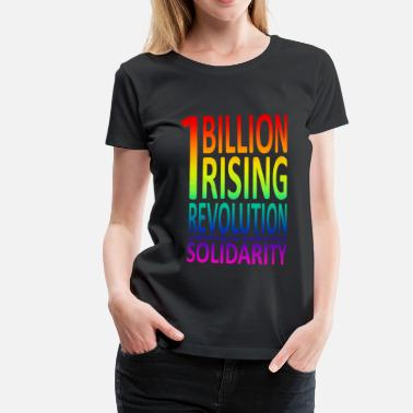 One Billion Rising OneBillionRising Rainbow - Frauen Premium T-Shirt