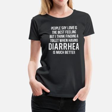 Catholic Funny Toilet Diarrhea Funny Ironic T-Shirt - Women's Premium T-Shirt