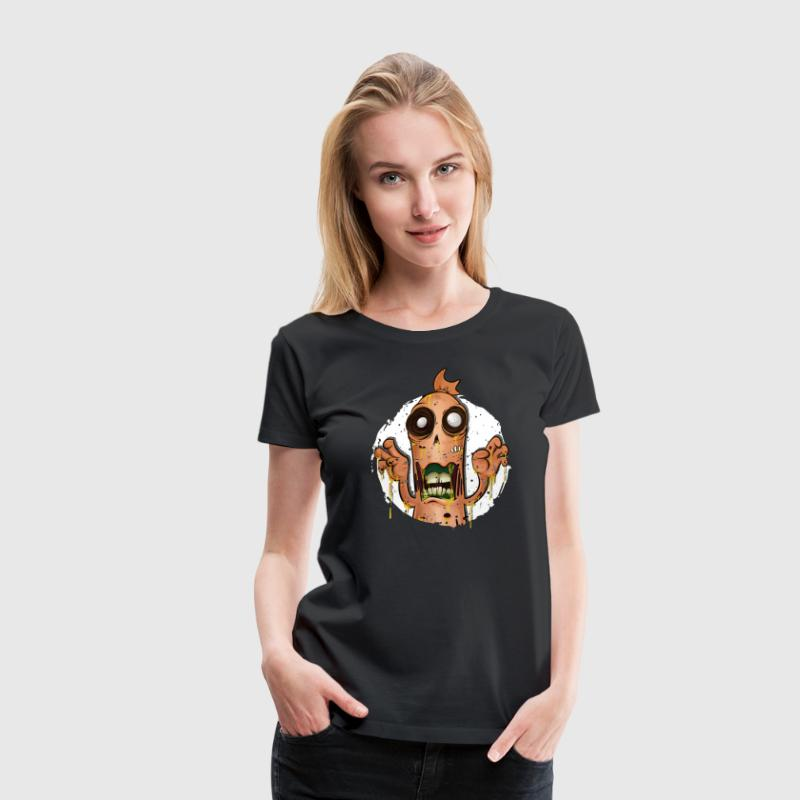 Halloween Currywurst - Frauen Premium T-Shirt