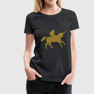 Goldiges Einhorn - Frauen Premium T-Shirt
