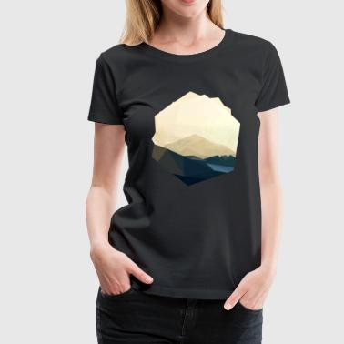 berg polygon - Frauen Premium T-Shirt