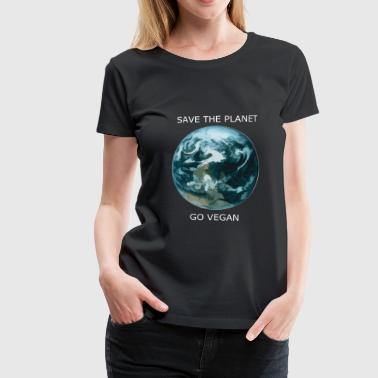 Save The Planet Save the planet. Go vegan. - Women's Premium T-Shirt