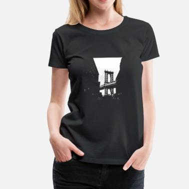 Bridge Manhattan Bridge - Bridges motiv - Dame premium T-shirt