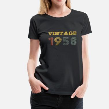 Age 50 Vintage 1958 Retro 60th Birthday 50s Gift - Women's Premium T-Shirt