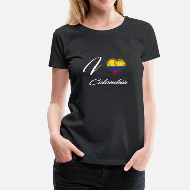 Colombia I Love Home Country Flag Roots Colombia - Women's Premium T-Shirt
