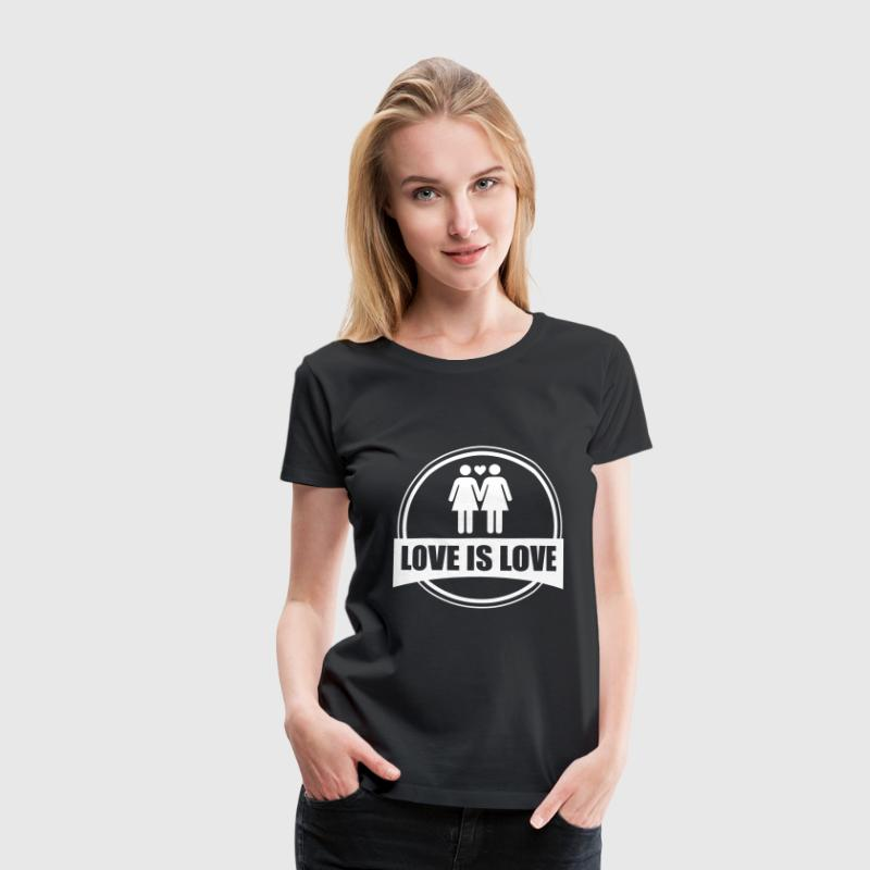 LOVE IS LOVE LESBIAN 2 - Women's Premium T-Shirt