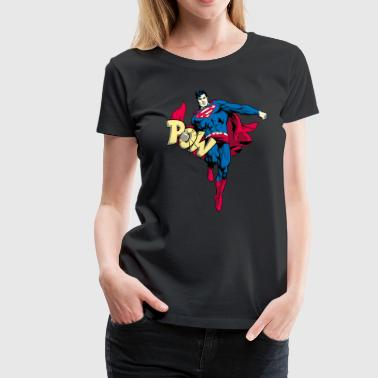 Superman 'Pow' Teenager T-Shirt - Dame premium T-shirt