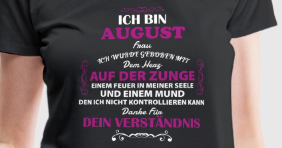 Geschenk Geburtstag August Frau von BirthDayChristmasArts | Spreadshirt