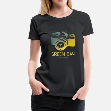 Green Bay Packers Green Bay Camera met hart - Vrouwen Premium T-shirt