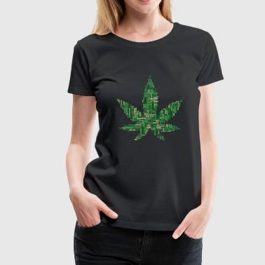 collage de marijuana - T-shirt Premium Femme